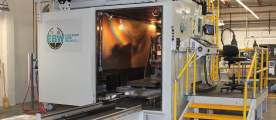 electron beam welding system